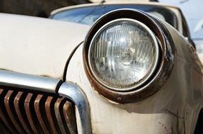 Headlights and taillights for vintage cars